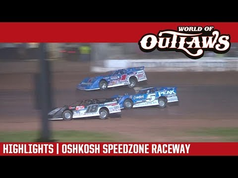 World of Outlaws Craftsman Late Models Oshkosh Speedzone Raceway August 1, 2017 | HIGHLIGHTS