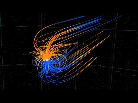 Earth's Magnetic Field Lines (3D) [1080p]
