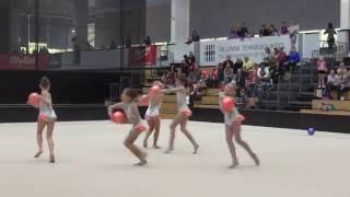 VK Janika lasteklass 5 ball RG Tallinna MV 2016 iluvõimlemise rühm 2 katse