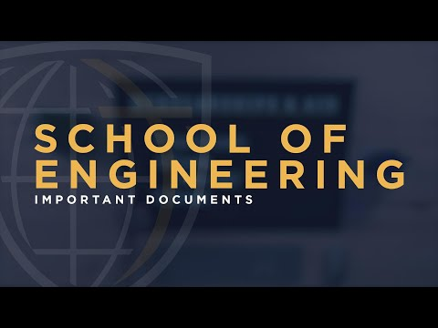 Important Documents - School Of Engineering (for Online Graduate Students)