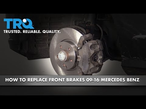 How to Replace Front Brakes 09-16 Mercedes-Benz E350
