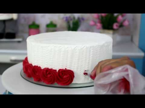 Como fazer Ombre Cake # Decoração com Bicos de confeitar