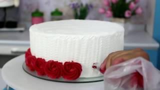 Como fazer Ombre Cake – Decoração com Bicos de confeitar