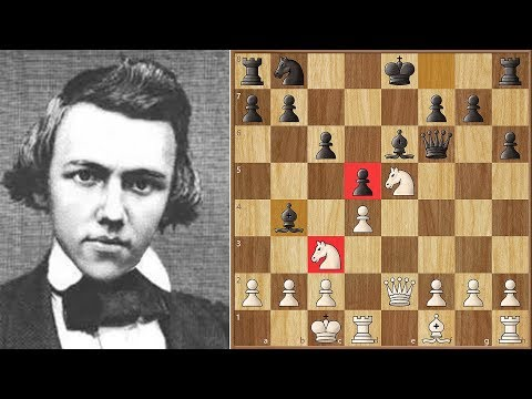 First Game Against a Master! || Morphy vs Löwenthal (1850)