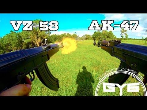 AK 47 -vs.- VZ 58---FULL AUTO