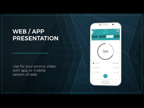 Web App Presentation Andorid After Effects Template