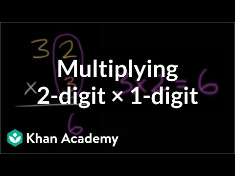 Multiplying: 2 digits times 1 digit | Multiplication and division | Arithmetic | Khan Academy