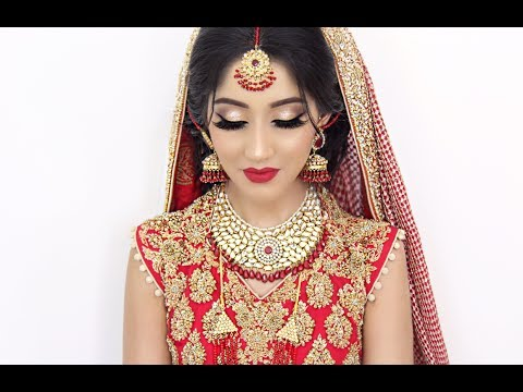 Traditional Asian Bridal Hair And Makeup Youtube