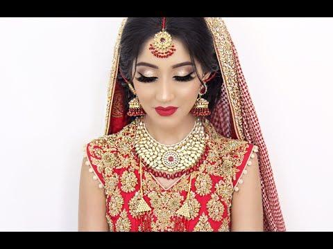 traditional asian bridal hair