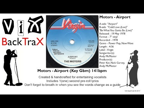 ViX BackTraX - Motors - Airport (Key Gbm) 141bpm (Backing Track)