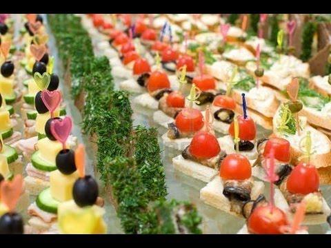Вкусные канапе, мини бутерброды, на шпажках и красивое ...