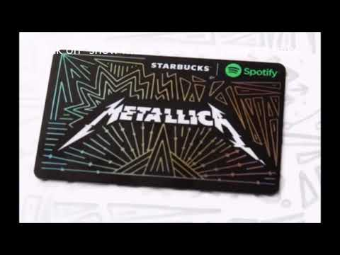 Metallica collab with Starbucks and Spotify for gift card fundraiser..!
