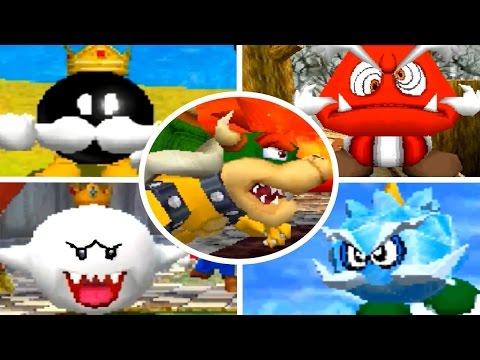 Super Mario 64 DS - All Bosses (No Damage) + Ending