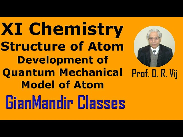 XI Chemistry - Structure of Atom - Development of Quantum Mechanical Model of Atom by Ruchi Mam