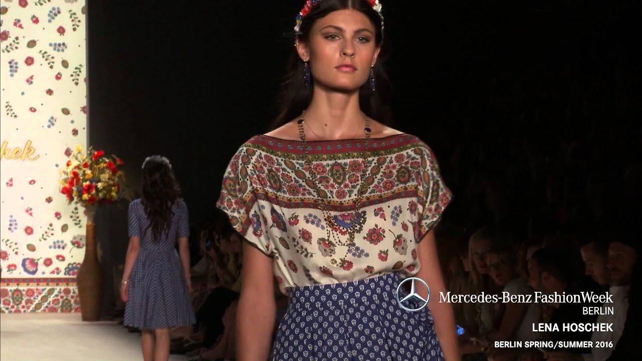 Lena hoschek mercedes benz fashion week berlin ss2016 for Mercede benz fashion week