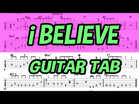 Learn How to Play I Believe Fingerstyle Acoustic Guitar Lesson TABS My Sassy Girl