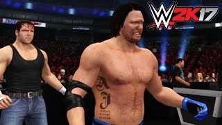 WWE 2K17 - Xbox 360 / Ps3 Gameplay Extreme Rules AJ Styles vs Dean Ambrose
