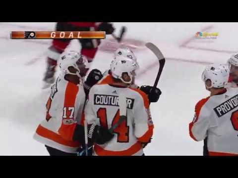 Sean Couturier Goal - Philadelphia Flyers vs Ottawa Senators 10/26/17