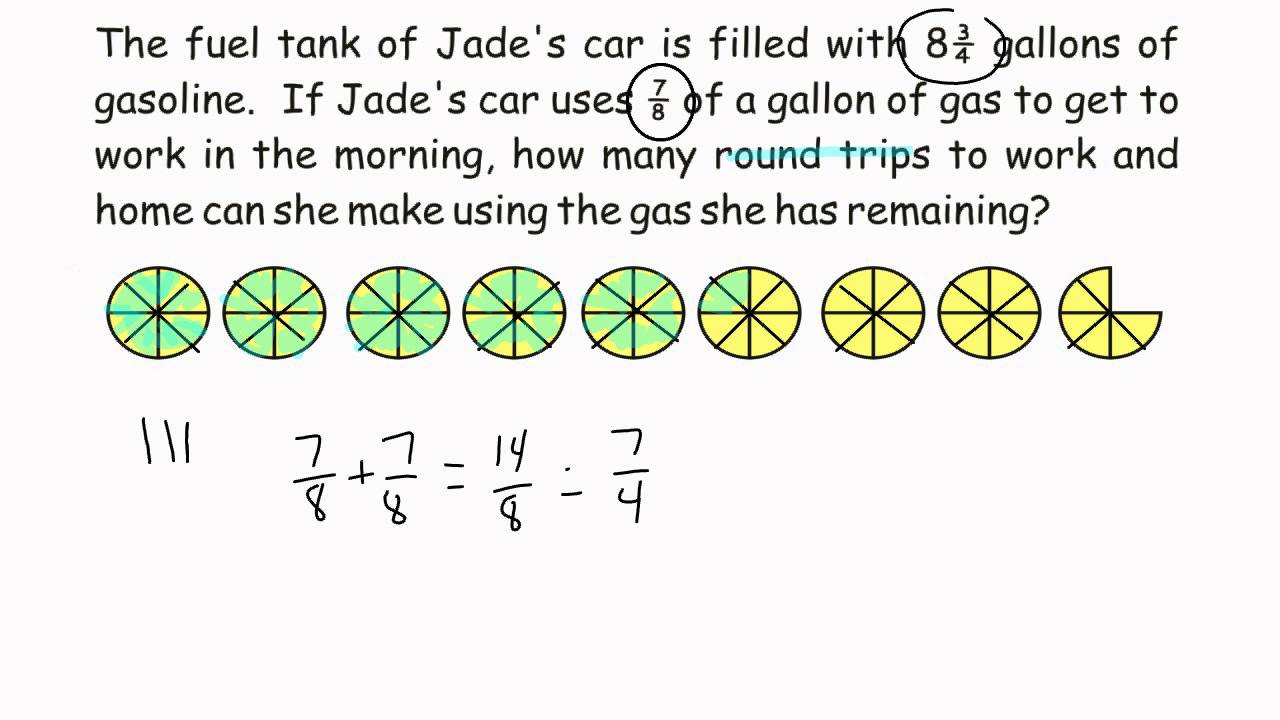 small resolution of Problem Solving - Dividing Fractions Word Problem - YouTube
