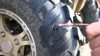 Ремонт прокола бескамерного колеса ремкомплектом.m2v