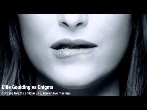 Ellie Goulding vs Enigma - Love me like the child in us (J Marvin live mashup)