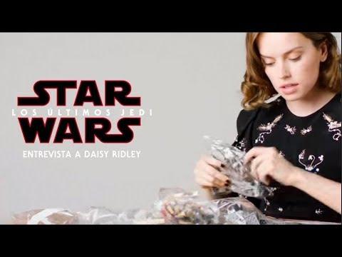 Star Wars: Los Últimos Jedi  Entrevista a Daisy Ridley mientras construye el Halcón Milenario LEGO