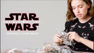 Star Wars: Los Últimos Jedi - Entrevista a Daisy Ridley mientras construye el Halcón Milenario LEGO