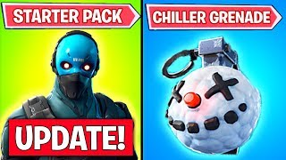 NEW FORTNITE UPDATE! - Cobalt Starter Pack, Chiller Grenades 7.30 Patch (Fortnite Battle Royale)