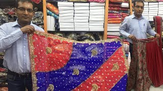 latest and designer handwork saree & stone work saree and designer lehanga chunni