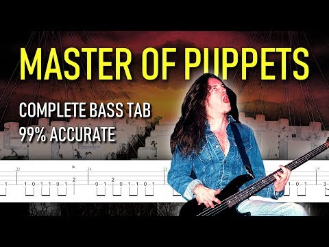 Master of Puppets bass tab (+ isolated track of Cliff Burton)