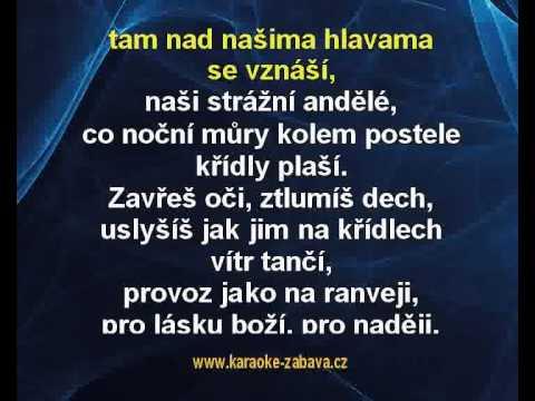 Andělé strážní - Václav Neckář Karaoke tip