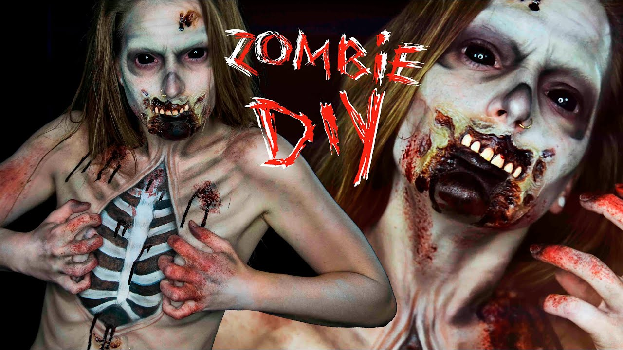 zombie halloween body paint tutorial elsa rhae youtube - Zombies Pictures For Halloween