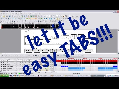 GUITAR LESSON--LET IT BE(BEATLES)- GUITAR PRO SOLO TABS NOTE FOR ...