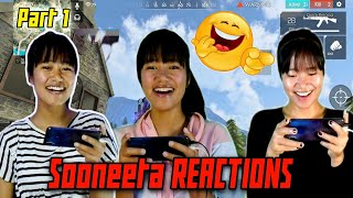 Sooneeta Surprise Funny Reactions ( Part-1) - Garena Free Fire