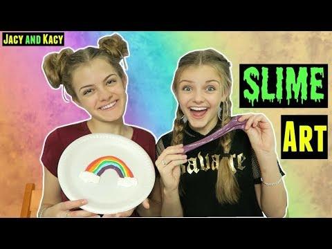 Slime Art Challenge ~ Jacy and Kacy
