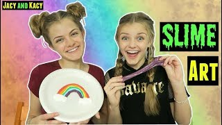 Slime Art Challenge ~ Jacy and Kacy