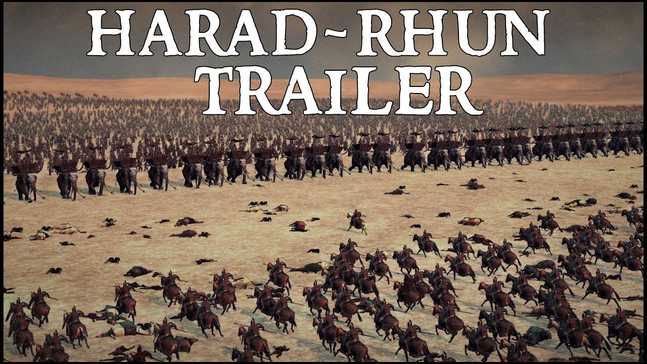 RHUN - HARAD TRAILER - Rise of Mordor the Lord of the Rings Mod l NEW UNITS; MUMAKIL - WITCH KING