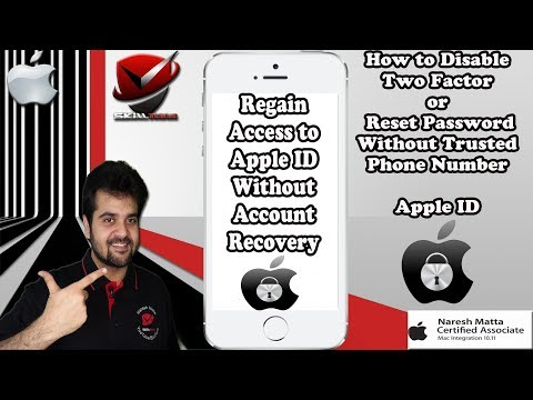 Apple ID Two Factor Authentication |Reset Password Without Phone Number | No Account Recovery