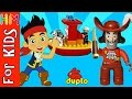 LEGO DUPLO Captain Hook VS Jake Pirate's Ship Set 10591 Cartoon Toys Unboxing VIDEO FOR KIDS