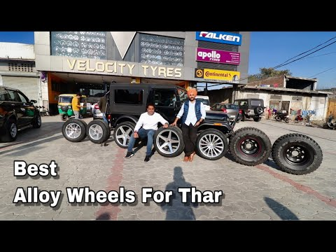 Thar Mahindra   Alloy Wheels And Tyres   All Sizes 15'' To 22''   Low Profile   MT Tyres    Punjab