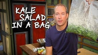 How To Make Kale Salad In A Bag: Baja Cocina Con James Carson
