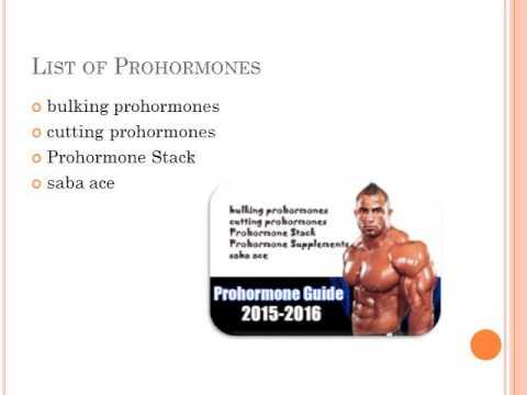 A comprehensive guide - Prohormones