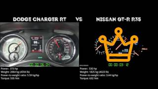 Dodge Charger RT vs. Nissan GT-R R35 - the 0-100 km/h duel. Which o...