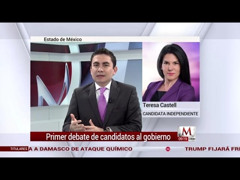 Entrevista a Teresa Castell, candidata independiente a gubernatura del Edomex