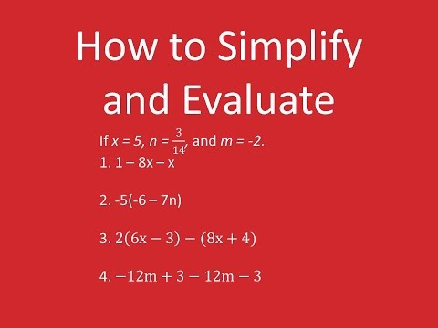 How to Simplify and Evaluate Expressions (4 Examples)
