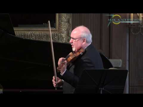 VIOLIN MASTERCLASS WITH GLENN DICTEROW AT THE MUSIC ACADEMY OF THE WEST