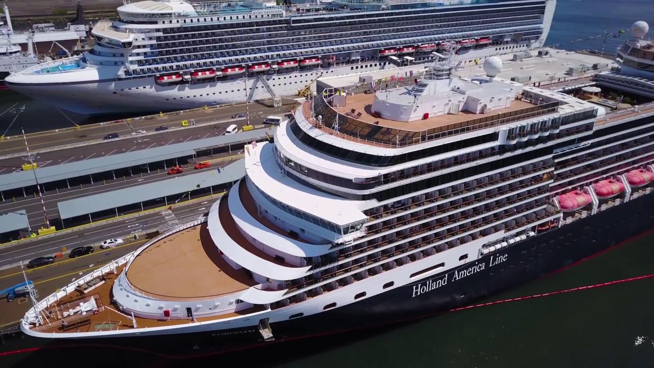 Seattle Cruise Terminal Holland America Line Eurodam UHDK - Eurodam cruise ship