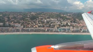 EasyJet Stunning Approach and Landing in Nice Côte d