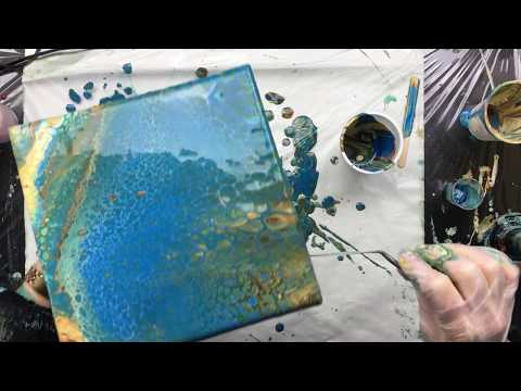 ( 565 ) 20cm x 20 cm Acrylic Pour straight out of the cup
