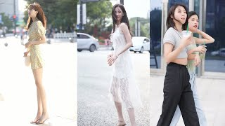 Tik Tok China #48 pretty girls mejores fashion walking style street dress outfit. 抖音時尚網紅街拍合輯。